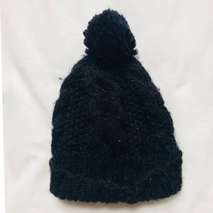 Accessories - Black Knitted Beanie